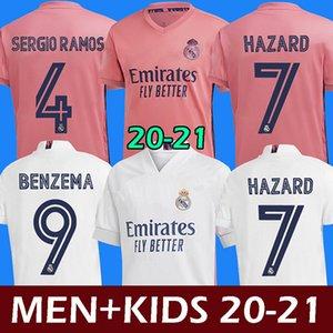 maillots de football real madrid maillots 20 21 HAZARD JOVIC MILITAO camiseta de foot 2020 2021 kids VINICIUS JR ASENSIO maillot de foot enfants MARCELO ISCO kids soccer jersey