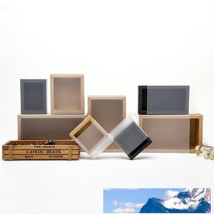 متجمد غطاء PVC ورق كرافت درج صناديق DIY اليدوية الصابون كرافت مربع جوهرة لحفل زفاف تغليف هدايا LX0388