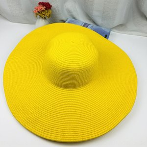 Fashion Beach straw super large eaves wind straw sunscreen travel seaside color hat beach hat