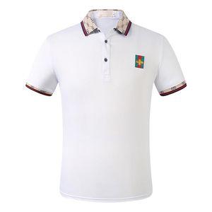 Italy designer polo shirt t shirts 2019 Polos snake bee floral embroidery mens polos High street fashion stripe print polo T-shirt M-3XL629