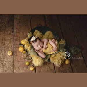 Bebek Kayıt Büyüme Fotoğraf Dikmeler Yenidoğan Fotoğraf Wrap Battaniye Bebek Vintage Old Style Dekoratif Battaniye Tie-boya