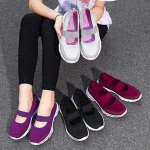 Weideng Mesh Ventilazione gomma con fondo antiscivolo capo rotondo della fascia elastica Decorare sport esterno di belle scarpe casuali donne di estate
