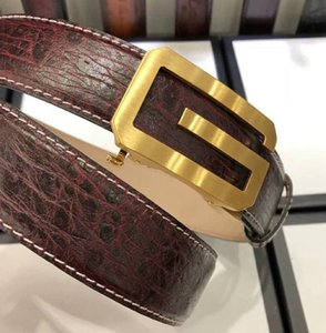 yangzizhi7 Silk gold automatic buckle wine red top layer leather belt Mens Belts For Men Women Belt With Box
