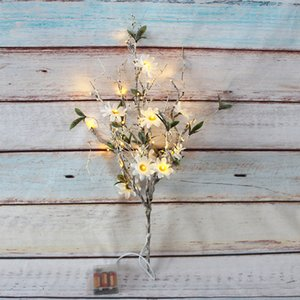 Party Wildflower Branch 30 Lights Decoration Home Living Decor Led Garland Artificial Sunflower Diy Floral