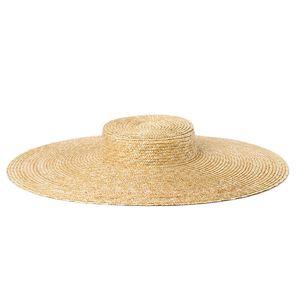 Summer Big 15cm Wide Brim Sun for Women French Style Floppy Straw Ladies Kentucky Derby Craft Millinery Hat Base Y200716
