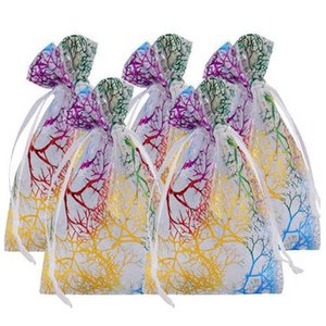 Organza Bags White Coralline Custom Jewelry Tea Packaging Bags Organza Wedding Gift Bags fast shipping