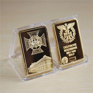 1 Oz 24k Gold German IRON CROSS BAR Deutsche Reichsbank COIN 999 1000 Eagle bullion bar 10pcs lot free shipping