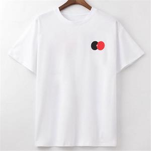 2020 남성 T 셔츠 폴로 패션 색상 대비 T 셔츠 반소매 남성과 여성 힙합 폴로 티셔츠 사이즈 인쇄 : S-2XL를