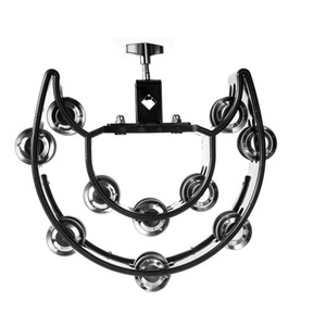 Rattle Double Row Bell of Orff Bracket Fower Drum Ring Drum Set Tambourine Multifunctional Hand Bell KTV