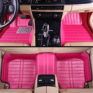 girls women's personality high quality fashion full surrounded pink 5d customized car floor mats for all car models iJya#