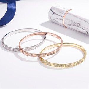 Karaojia LOVE ring of eternity female Sky star double row Diamond s925 sterling silver bracelet for lovers