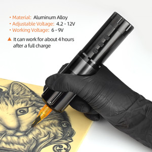 لاسلكي جديد آلة الوشم القلم الأصل المحمولة العرض بطارية ليثيوم التيار الكهربائي LED الرقمية الوشم خرطوشة معدات إبرة
