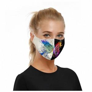10pc algodón de la cara Maks reutilizable 2020 transpirable animal de la impresión de la boca de tela Maskking Dustpoor Ciclismo de escudo facial Mascarillas Bandana B6rw #