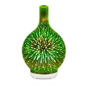 Nuove 3d colorato bowling umidificatore 100ml aromaterapia notte casa di vetro luce fuochi d'artificio a ultrasuoni 5v macchina aromaterapia