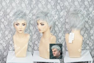Devil May Cry 5 Nero Curto anime cabelo Cosplay Wig