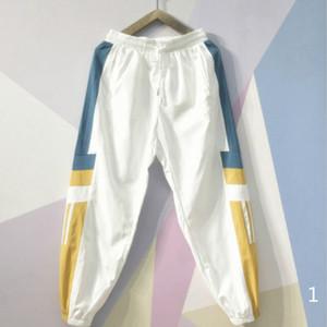 20s S / S Mens del progettista dei pantaloni con coulisse con pannelli modello Sport pantaloni casual Nove Punti Pantaloni sportivi Taglia M-4XL
