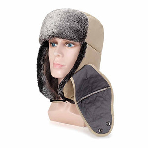 Winter Durable Thick Fluffy Thermal Ear Protection Cap Outdoor Practical Windproof Cycling Skiing Ice Fishing Hiking Sports Hat