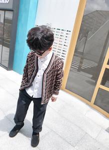 새로운 가을 착용 카디건 스웨터 베이비 키즈 소녀 소년 버튼 니트 스웨터 어린이 소년 다채로운 스웨터 의상 어린이 의류