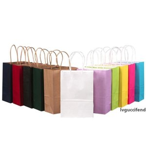 Kraft Paper Gift Bags with Handle Shopping Bags Christmas Packing Bags 3 Sizes
