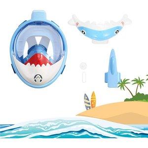 Kids Snorkel Mask Full Face Foldable 180 Degree Panoramic View Snorkeling Mask Anti Fog Anti Leak Snorkel for Kids