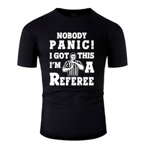 Printed Summer T Shirt For Mens Fitness Referee Ref Sports Team Whistle Blowing Fun Gift T Shirts Basic Solid 2019