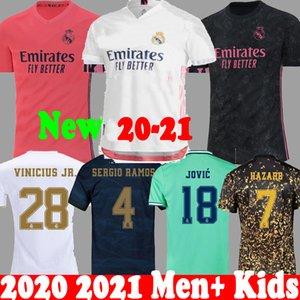 Tailandia 20 jerseys del fútbol de Real Madrid 21 PELIGRO 2020 2021 niños camiseta RM JOVIC Bale RODRYGO SERGIO RAMOS camisas del fútbol de EA Kit 19 20 Nueva