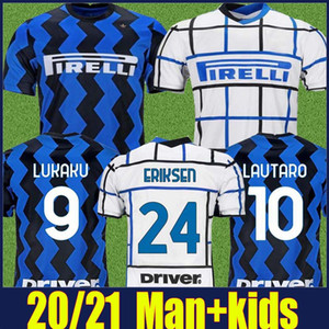 2020 The Nerazzurri inter ERIKSEN LUKAKU soccer jerseys ALEXIS LAUTARO football jersey Kids Kit sets BROZOVIC BARELLA soccer shirts 20 21