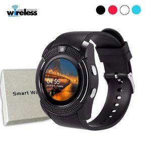 Orologi intelligente Guarda V8 Uomini Bluetooth Sport delle signore delle donne Rel gio Smartwatch con il supporto di vigilanza della macchina fotografica Siart SIM PK DZ09 GT08 A1