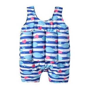 Traje de baño de los niños del muchacho del juego de natación del flotador de flotabilidad del traje de baño del bañador desmontable Lección de protección de aprendizaje seguro del traje de baño