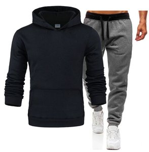 Men's Sportswear Casual Spring Tracksuit Men Two Pieces Sets Stand Collar Jackets Sweatshirt Pants Joggers Track Suit Running 3XL