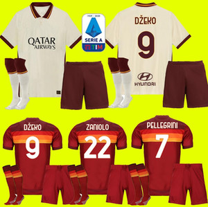 enfants adultes kit 20 21 ROMA jersey de football loin de la maison 2020 2021 AS PASTORE DZEKO Zaniolo EL Shaarawy ROME FOOTBALL