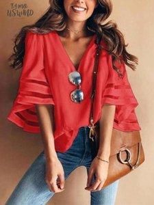 Boho Vintage Women Casual Loose Shawl Kimono Cardigan Chiffon Coat Women Short Sleeve V Neck Shirts White Pink Blue Red