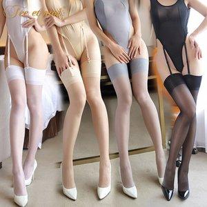 Ücret Et Moi Avrupa Ve Amerika Seksi İç Kadın Şeffaf çorap Seksi Üniforma Temptation Kaşkorse Siyah Çoraplar Seti 7