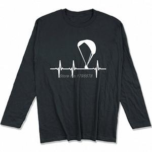 Parapendio Ecg maglietta Primavera Autunno Uomini cotone a maniche lunghe T-shirt divertente Hip Hop Tees Tops Harajuku Streetwear 6TqN #