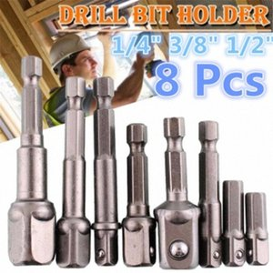 Driver chiave a bussola manica Extension Bar Hex Shank Drive Power Drill Bit Adapter Set mWF6 #