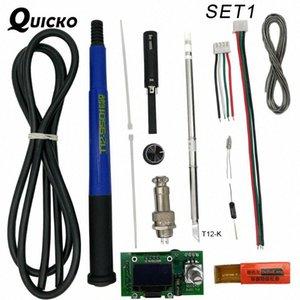 QUICKO Ajuste da temperatura T12 Estação Ferro STC OLED Controlador Digital de solda soldagem painel de exibição em Aplicar para dicas HAKKO T12 n8B1 #