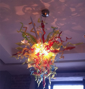 Light Fixture of Ceiling Pretty Home Lighting Colorful Design for Living Room Art Deco 100% Mouth Blown Chandelier