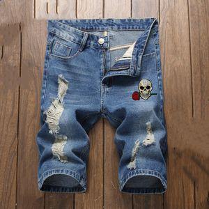 mens 2020 designer t shirts Mens Badge Slim Fit Jeans Fashion Motocycle Denim Pants short Trousers men designer pants short