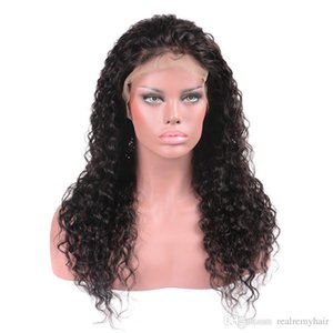Brazilian Wet and Wavy Lace Front Human Hair Wigs For Black Women Water Wave Pre Plucked Virgin Hair Lace Wigs With Baby Hair