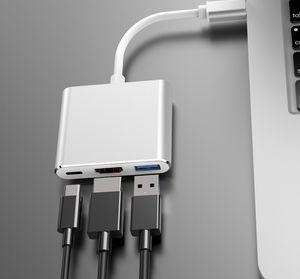 Macbook için HDMI, USB-K ve PD Dijital Multiport Adaptörü 2 Port USB 3.0 HUB USB-C USB 3.1 C Tipi