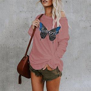 Luxusmode Plus Size Frauen drucken T Shirts 2021 Long Tops Tshirts Designer Autumn Damen Frühling Kleidung Lose Ärmel PKTFM