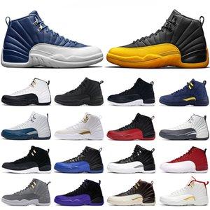 Мужская баскетбольная обувь 12s университета Gold 12 Flu Game Dark Concord Gym Red Мастер Reverse такси мужчины тренеры спортивных спортивные кроссовки