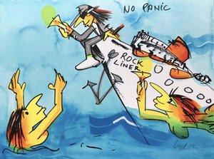 Udo Lindenberg Rockliner hay pánico Decoración pintura al óleo sobre lienzo de arte cuadros de la pared de lona 200723