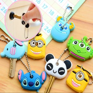 A1580 Korean stationery cute BES cute cartoon animal case case Chain cover soft plastic key cover key chain