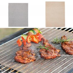 Glass Fibre Barbecue Pad Environmental Protection Mesh Mat Popular Grill Mats Heat Resistant With Black Brown Color 4mr J1