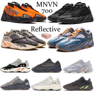 Nouveau 700 réfléchissant coureur de vague orange phosphorescent Tie-dye Kanye solide gris Chaussures de course aimant carbone bleu sarcelle Inertie V2 Vanta Hommes Sneakers