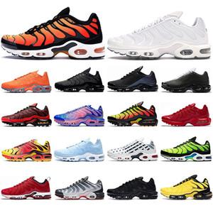 Nike TN max Plus 2020 migliori scarpe da corsa a spruzzo Bianco Tensione Viola Pimento Mens Trainers Runner atletica leggera all'aperto traspirante Sport Sneakers Taglia 40-45