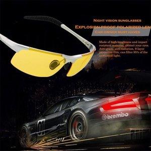 Driver telaio occhiali da sole polarizzati con alluminio-magnesio dei nuovi uomini tenperament Occhiali da sole Night Vision Goggles anabbagliante Sunglass