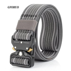 GFOHUO Nueva hebilla de cinturón táctico 3.7 cm alta calidad ocasional de la correa de lona de nylon para los hombres las mujeres y Formación