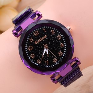 Internet Red TikTok Explosion Lazy Womens Watch Magnet Magnet Magnet Quartz Watch Fashion Starry Watch Wholesale